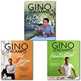 Gino D'Acampo Italian Cookbook Collection 3 Books Set, (The I Diet: 100 Healthy Italian Recipes to Help You Lose Weight & Love Food, Fantastico!: Modern Italian Food and La Dolce Diet: 100 Recipes and Exercises to Help You Lose Weight the Italian Gino D'