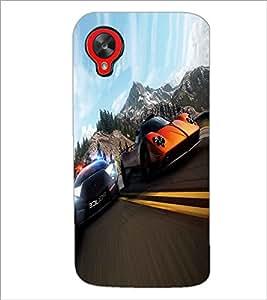 PRINTSWAG RACING CARS Designer Back Cover Case for LG GOOGLE NEXUS 5