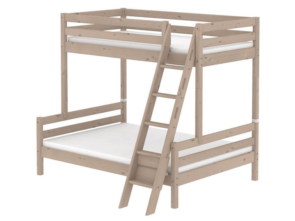 Familienbett, Flexa Classic, mit schräger Leiter, Terra