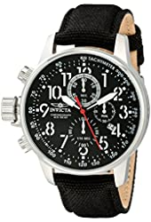 "Invicta Men's 1512 I ""Force"" Stainless Steel Watch with Cloth and Leather Strap"
