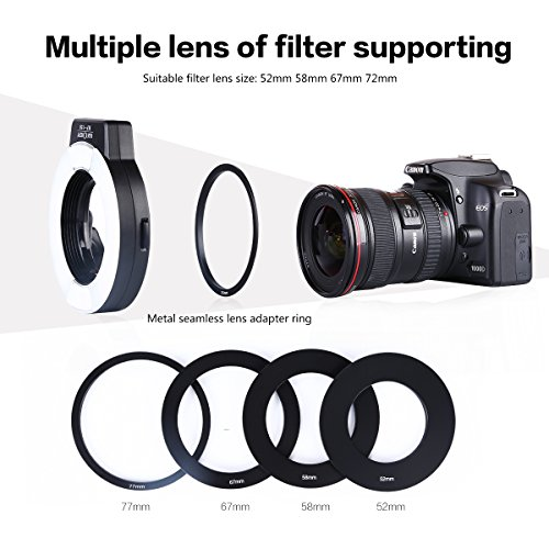 KF-Concept-KF-150-TTL-Macro-Ring-Light-with-LED-for-Nikon-D5100-D3200-D5300-D700-D3300-D300-D200-D90-D80-D70-D5000-D3000-D60-D50-D40-Cameras
