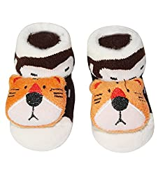 Wonderkids Tiger Baby Socks Booties