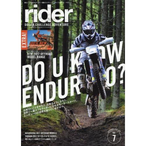 rider (ライダー) Vol.7 [雑誌] (オートバイ 2016年9月号臨時増刊)