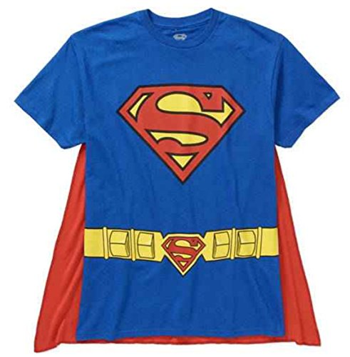 DC Comics Superman Costume with Cape Men's T-Shirt