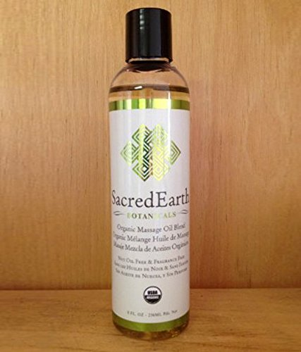 Sacred Earth Organic Massage Oil - 8 oz