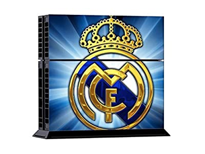 Geek Gamer Think - Real Madrid Club de Fútbol CF Protective Vinyl Skin Decal Cover for Sony Playstation 4 - Fan Made PS4 Console & Remote Dualshock 4 Controller Sticker Skins By Patriots N Sun