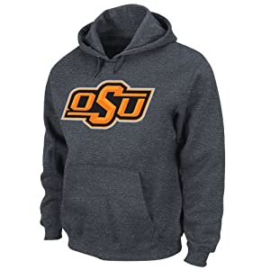 NCAA Oklahoma State Cowboys Conquest Charcoal Heather Long Sleeve Hooded Fleece... by Majestic