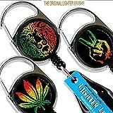 LIGHTER LEASH Premium Clip Rasta Series (Color: Multi)