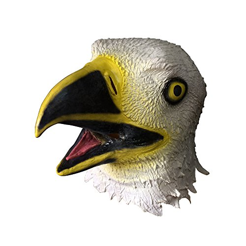 Eagle Mask,100% Latex Full Head Mask for Costume,Halloween,Dance Party,Easter