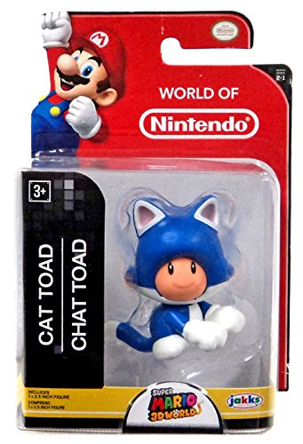"Super Mario World of Nintendo Super Mario 3D Worlds Cat Toad 2.5"" Mini Figure"