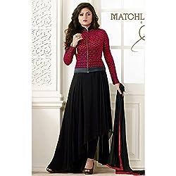 Divine Fab Women's Cotton Unstitched Dress Material (Divine Fab_8_Turqoise_Free Size)