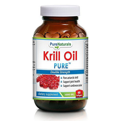 Krill Oil 1000Mg -- Double Strength -- 60 Softgels -- Contains High Concetration Of Astaxanthin - Higher In Omega 3 Than Fish Oil - Great For Maintaining Cardiovascular Health* - Supports Brain Health* - Immune System Boost* (2)