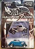 Mattel Hot Wheels 2002 Hall Of Fame Greatest Rides 1:64 Scale 35th Anniversary Green 1934 Three-Window Ford Coupe Die Cast Car