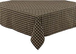 Park Designs Sturbridge Black 54 Tablecloth