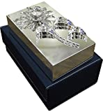The Divine Luxury Silver-Plated Jewelry Box with Crystal Sunflower