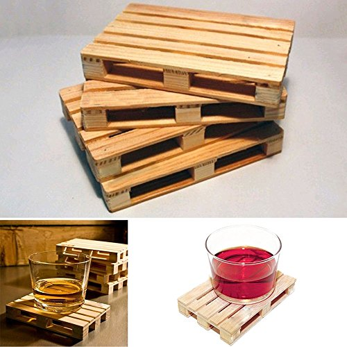 lariy-4pcs-mini-set-wooden-pallet-styled-cups-holder-mat-coffee-drinks-coasters