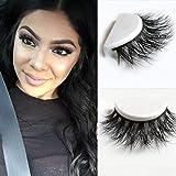 YABINA 1 Pairs Box Long Cross Mink Makeup Natural 3D Fake Thick Black False Eyelashes 008