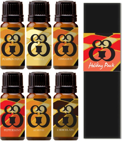 Roma Dior - Holiday 6 Pack - Pumpkin Patch - Chocolate - Vanilla - Almond - Cinnamon - Peppermint - Fragrance Oil - 10ml