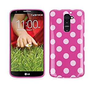Polka Dots TPU Back Case Cover Protective Skin for LG G2 D802/D802TA/D803/VS980 Rose