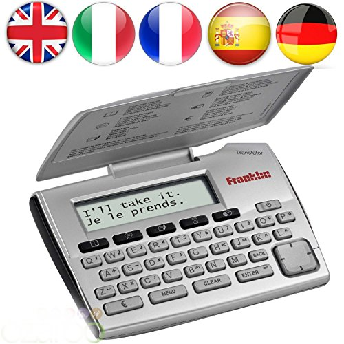 Franklin 5-Language Electronic Translator English German French Spanish Italian 5-Language European Translator Device - Silver (Electronic Italian Dictionary compare prices)