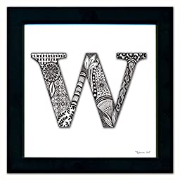W Monogram Pen & Ink
