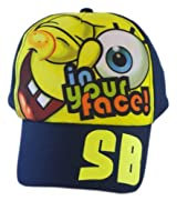 Spongebob Baseball Cap - Spongebob SquarePants Hat (Dark Blue)