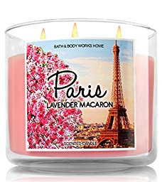 Bath and Body Works Paris Candle - Lavender Macaron - Paris France Limited Edition Destination Candle Collection