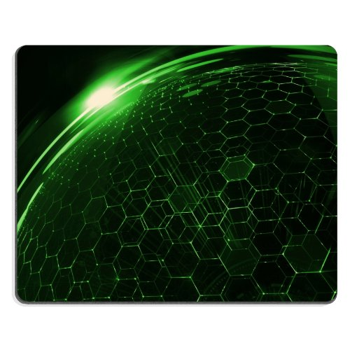 Pattern Green Crystal Structure Mouse Pads Customized Made To Order Support Ready 9 7/8 Inch (250Mm) X 7 7/8 Inch (200Mm) X 1/16 Inch (2Mm) High Quality Eco Friendly Cloth With Neoprene Rubber Liil Mouse Pad Desktop Mousepad Laptop Mousepads Comfortable C front-539956