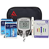 Diabetes Testing Kit (Bayer Contour NEXT EZ Meter + 100 Bayer Contour NEXT Test Strips + 100 Active1st 30g Lancets + Lancing Device + Control Solution)
