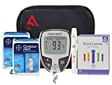Diabetes Testing Kit (Bayer Contour NEXT EZ Meter + 100 Bayer Contour NEXT Test Strips + 100 Active1st 30g Lancets + Lancing Device)