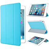 Apple iPad Mini 4 ケース,【選べる5色】【IVSO】オリジナルApple iPad Mini 4 専用カバー スマートケース 超薄型 最軽量 -Apple iPad Mini 4 専用ケース (ブルー)