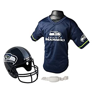 Franklin Sports NFL Seattle Seahawks Replica Youth Helmet and Jersey Set