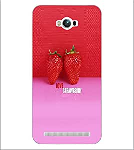 PrintDhaba Strawberries D-5037 Back Case Cover for ASUS ZENFONE MAX ZC550KL (Multi-Coloured)