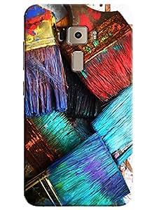 Omnam Paint Brush Printed Designer Back Cover Case For Asus Zenfone 3 ZE552KL