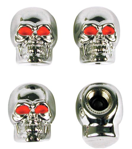 Custom Accessories 16220 Chrome Skull Style Valve Cap -, Pack of 4 (Custom Valve Caps compare prices)