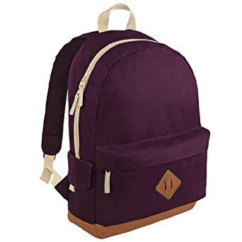 BagBase Heritage Backpack Burgundy One