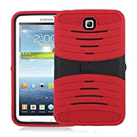 Heavy Duty rugged Silicone+PC impact Hybrid Case with Build In Kickstand Protective Case For Samsung Tablet Galaxy Tab 3 7inch P3200 (Red) from Goodsmile