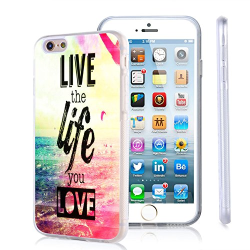 iPhone 6s Plus Case, iPhone 6 Plus Case Viwell TPU Soft Case Rubber Silicone Quotes Live the Life You Love