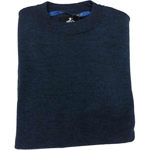 Armata di mare maglia aa98 uomo - Girocollo 50% lana merinos 50% acrilico, Royal - Taglia 46
