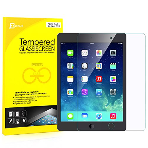 iPad Screen Protector, JETech® Premium Tempered Glass Screen Protector Film for Apple iPad 2/3/4