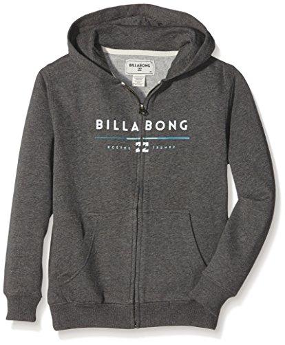 Tri Unity Billabong-Felpa con cappuccio e cerniera, da ragazzo, colore: grigio scuro, taglia: 14 anni (taglia del produttore: 14)