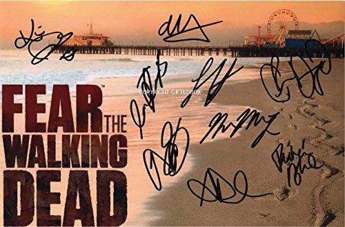 Edizione limitata Fear The Walking Dead Cast Firmato Foto + Cert Edizione Limitata, Con Autografo stampato