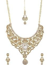 Homeoculture Non-Precious Metal Strand Necklace Set For Women (J37)