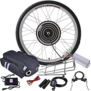 24v 500w 26in Front Wheel Electric Bicycle Motor Conversion Kit