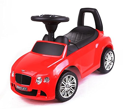 Rutschauto Rutscher Bentley Continental GT Lizenz Kinderauto Auto Baby Neu (Rot)