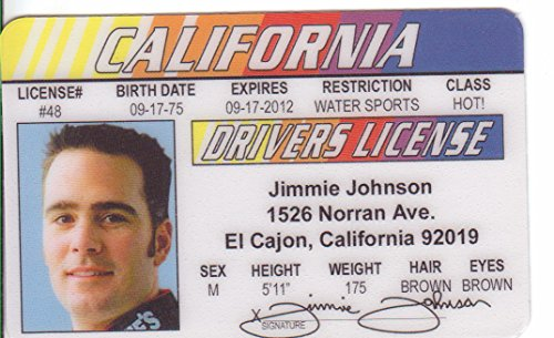 Jimmie Johnson Novelty Drivers License / Fake I.d. Identification for Nascar Fans - 1