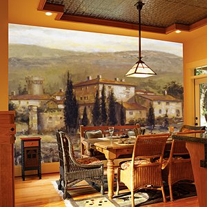 amazon com tuscan vineyard wall mural wall art vineyard