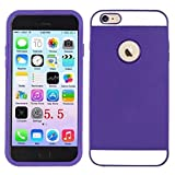 DEEGO- iPhone 6 PLUS Case, New Arrival Ultra Slim High Impact two in one Fit Dual Layer Hybrid TPU Case Cover for Apple Iphone 6 (5.5 Inch)(2014) (purple Hybrid TPU for iPhone 6 PLUS Case Cover)