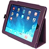 Kyasi Seattle Classic-iPad Case for iPad 2,3 or 4 Folio with Handstrap Deep Purple