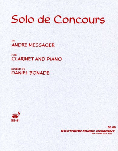 Solo de Concours for Clarinet and Piano PDF